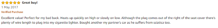 Amazon heated seat review