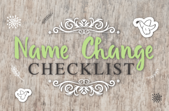 Wedding name change checklist