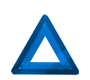Blue breakdown triangle