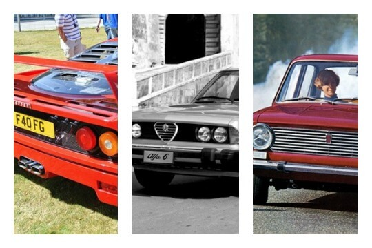 italian cars collage