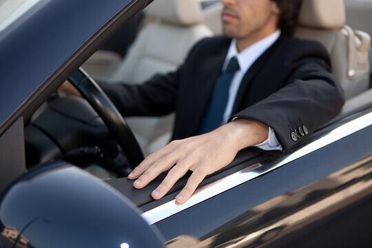 Businessman Driving