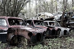 Car cemetery by John Erlandsen
