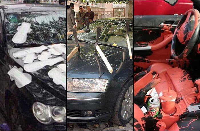 cars that got trashed by 'the ex' hero