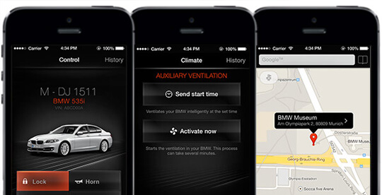 BMW remote car access app