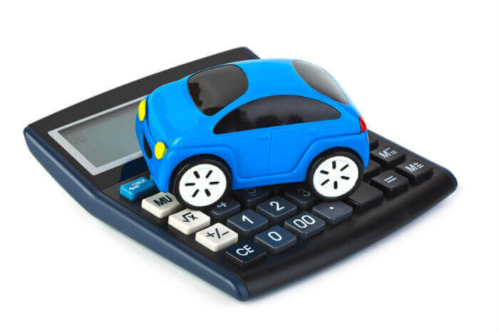Car on calculator