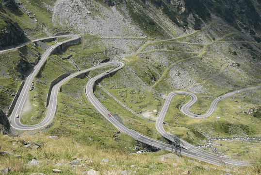 Transfagarasan twisty road