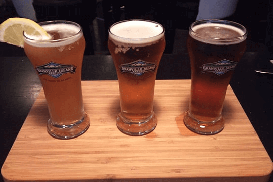 Three beers lined up
