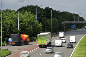 Traffic on UK motorway