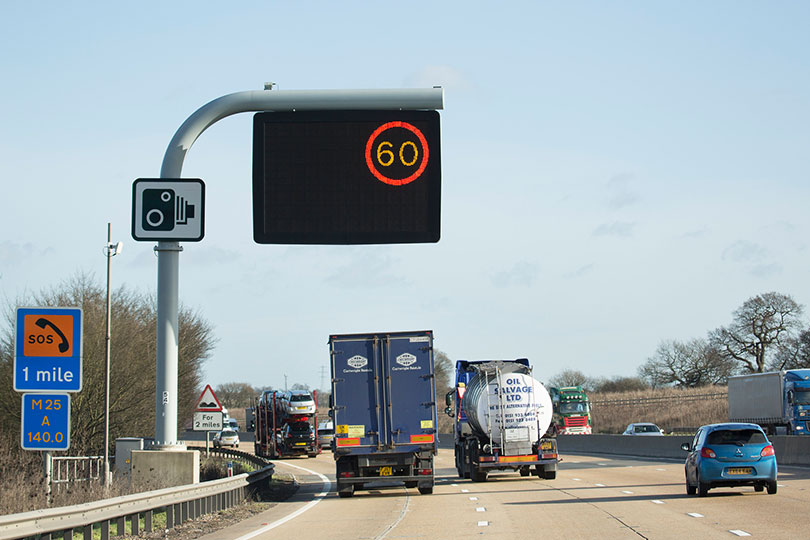 Variable speed limit camera