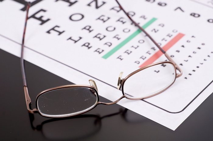 Glasses and eye test