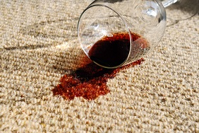 Spilled wine