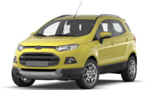 Ford Ecosport yellow car