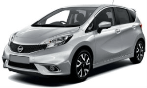 Nissan Note silver car