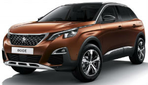 Peugeot 3008 copper car
