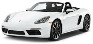 Porsche Boxster white car