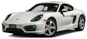 porsche cayman white car