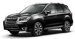 Subaru Forester car black