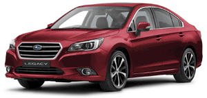 Subaru Legacy car red