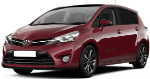 Toyota Verso Red car