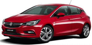 Vauxhall Astra red car
