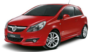 Vauxhall Corsa red car