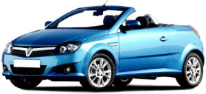 Vauxhall Tigra blue car