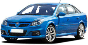 Vauxhall Vectra blue car