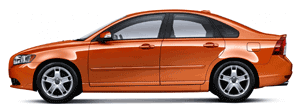 Volvo S40 orange car