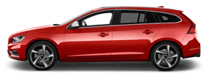 Volvo V60 red car